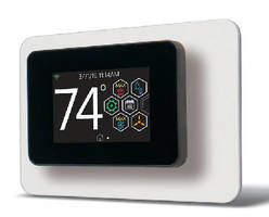 Residential Thermostat enables control via smartphone.