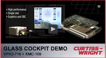 Curtiss-Wright Demonstrates Power® Architecture-based Glass Cockpit Display Solution and Advanced Air-Flow Through (AFT) Cooling for 3U Systems