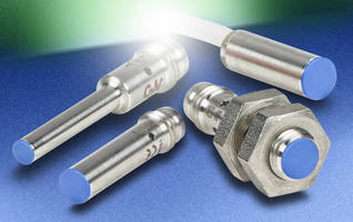Inductive Proximity Sensors have miniature, IP67 design.