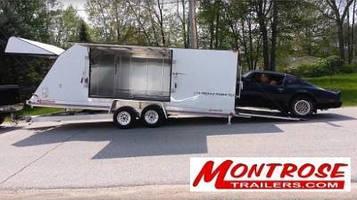 Enclosed Aluminum Car Trailer provides 365-degree access.