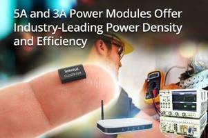 DC/DC Power Modules (5 and 3 A) offer optimized density, efficacy.