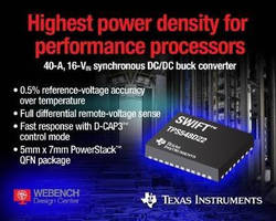 DC/DC Converter offers differential remote-voltage sensing.