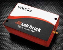 Lab Brick Signal Generator offers up to 80 dB power control range.
