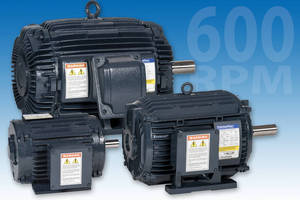 Motor (600 rpm) serves low-speed direct drive applications.