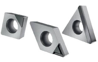 PCD Inserts offer optimized wear resistance.