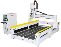 CNC Router is equipped with 23.5 in. raised gantry.