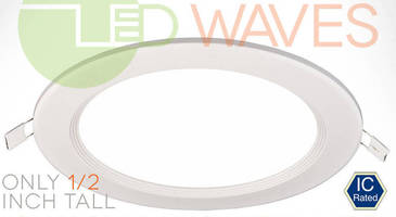 LED Recessed Light with Baffle Trim delivers soft ambient glow.