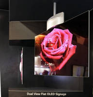 Dual-View OLED Displays serve commercial signage applications.