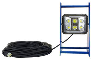 Portable 60 W LED Work Light has aluminum A-frame.