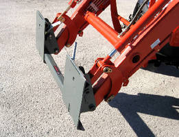 Loader Adapter supports skid steer attachments.