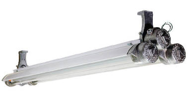 Explosion Proof Light Fixture utilizes dimmable LED bulbs.