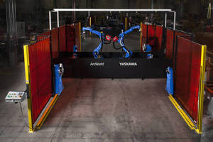 Modular Robotic Welding Workcell handles large workpieces.