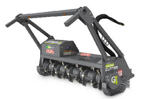 Mulching Head Attachment features 2-stage cutting chamber.