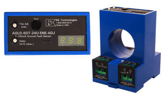 Ground Fault Sensors display trip point in any light condition.
