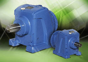 Helical Gearboxes operate with 1-20 hp electric motors.