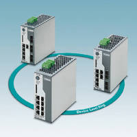 Managed Ethernet Switches support DLR redundancy mechanism.
