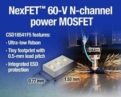 N-Channel Power MOSFET maintains typical Rdson of 54 mOhm.