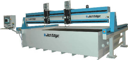 CNC Waterjet System runs up to 4 cutting heads.