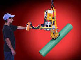 Vacuum Lifter-Tilter enables manual rotation of tubing.