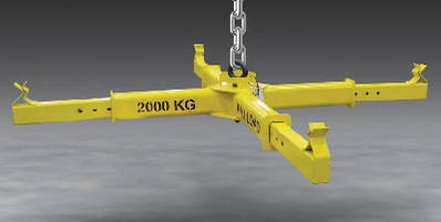 Bulk Bag Lifting Frame features adjustable arms.