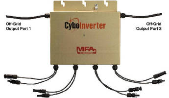 Off-Grid Inverter supports heating, cooling and refrigeration.