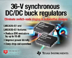 DC/DC Buck Regulators eliminate switch-node ringing.