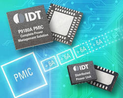 Integrated Power Management IC is programmable and scalable.