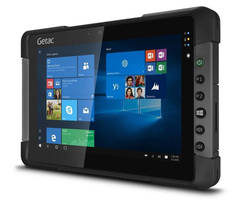 Rugged, Sunlight-Readable Tablet supports single-handed operation.