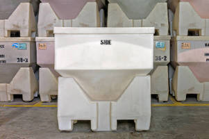 Sanitary Dry Hopper Container dispenses measured amounts.