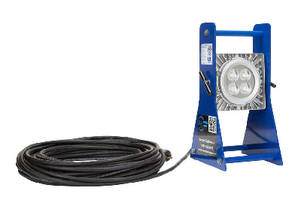 Explosion Proof LED Work Light features pedestal mount base.