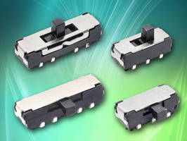 Subminiature DP3T Slide Switch offers J-Bend SMT lead option.
