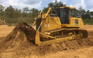 Wide-Blade Crawler Dozer features automated bade system.