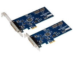 PCI Express Adapter provides 2 configurable serial ports.