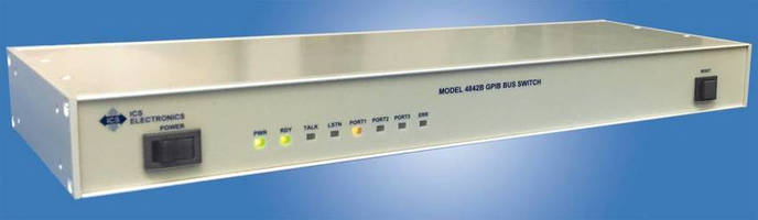 GPIB-Controlled GPIB Bus Switch automates test systems.