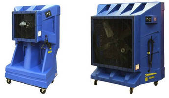 Portable Evaporative Coolers offer 8 hr of independent operation.
