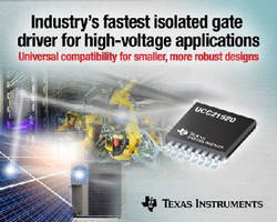 Isolated Gate Driver supports high-voltage applications.