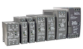 Compact DIN-Rail Power Supplies offer efficiency, flexibility.