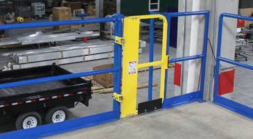 Ladder Safety Gate increases protection with full height profile.
