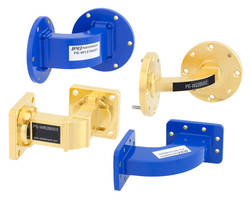 Waveguide Bends operate up to 90 GHz across 12 frequency bands.