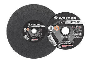 Abrasive Discs cut titanium and brass.