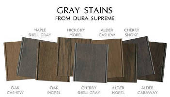 Gray Cabinetry Stains coordinate with any color.