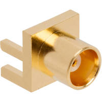 Machined Brass MCX Interconnects come in multiple configurations.