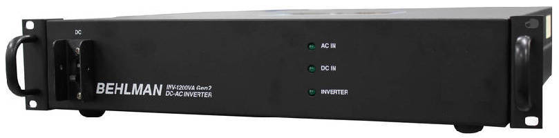 DC-AC Inverter delivers 1,200 W of regulated power.