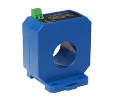 AC Current Transducer monitors loads up to 400 A.