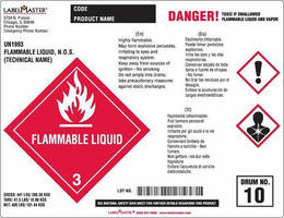 Anti-Static Drum Labels protect workers and increase safety.