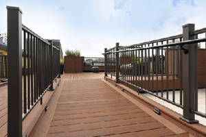 Aluminum Railing System offers textured bronze color option.
