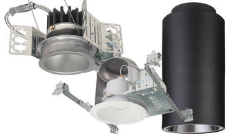 Recessed 90 CRI LED Downlights emulate incandescent dimming.