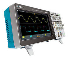 Oscilloscope optimizes signal visualization with large display.