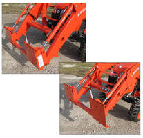 Adapters allow use of skid steer type attachments