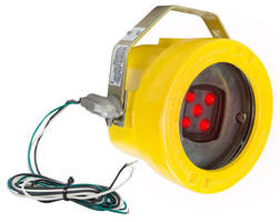 Explosionproof LED Light warns workers of approaching machinery.